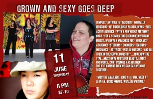 Standard Deviations: Grown and Sexy Goes Deep June 11 @ La Peña 8pm