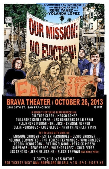 Our Mission No Eviction flyer