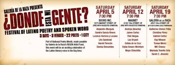 Donde Esta Mi Gente Poetry Festival